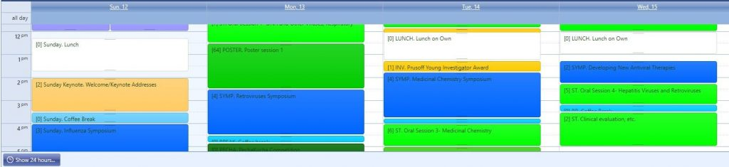 Intuitive Scheduling Grid and Itinerary Planner