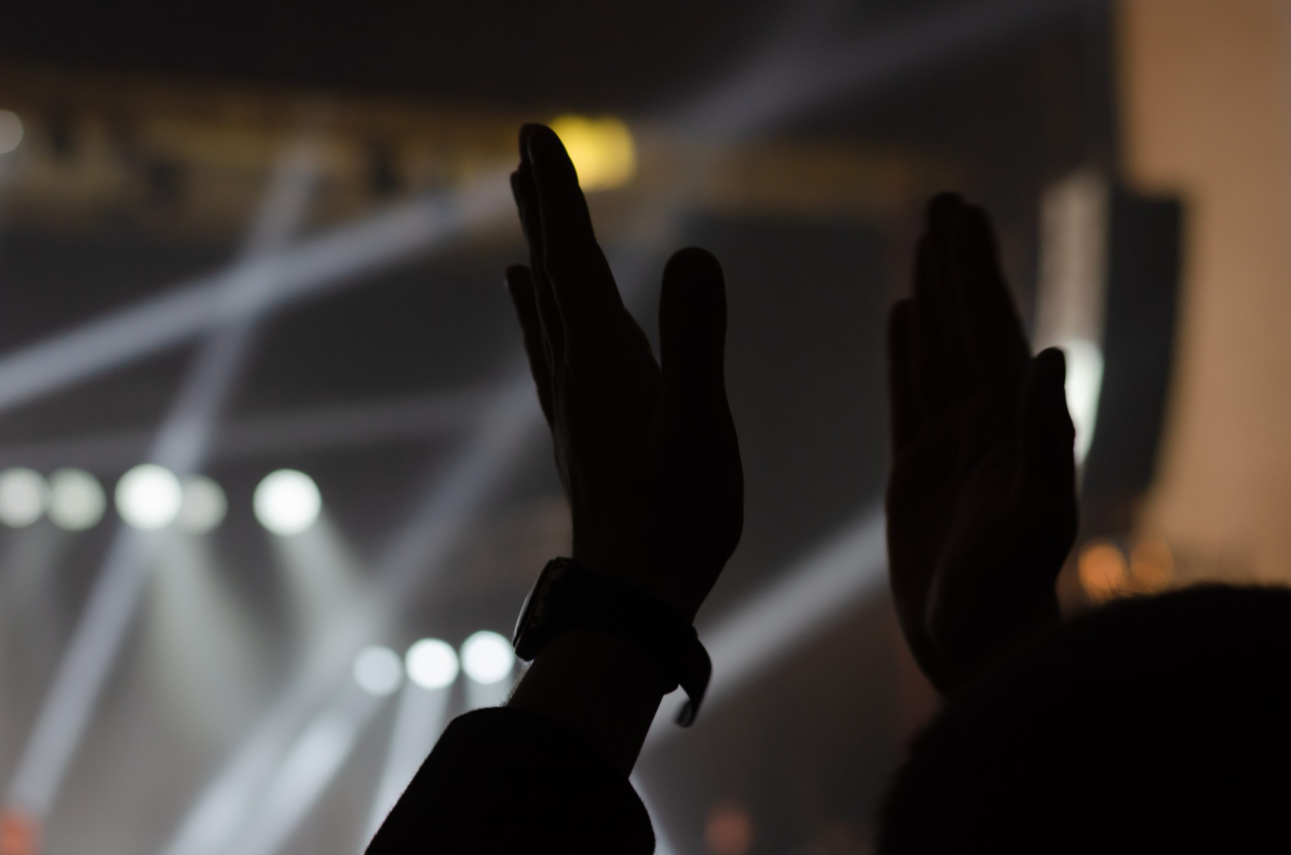 A Silhouette of Two Hands